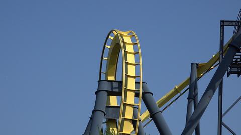 Roller Coaster in Amusement Park Live Action