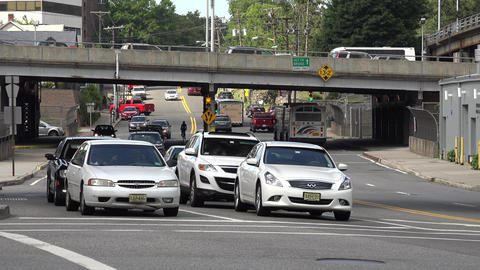 Traffic at Bridge Crossing Footage