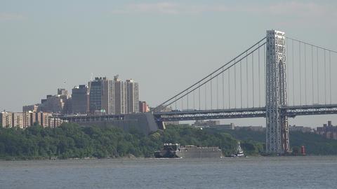 Suspension Bidge and City Buildings Live Action