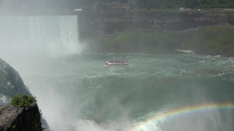 Waterfalls River and Rainbow Live Action