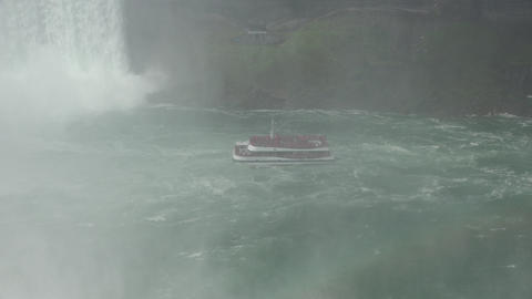 Ferry Boat at Water Falls Live Action