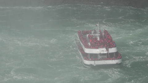 Passenger Ferry in Stormy Weather Live Action