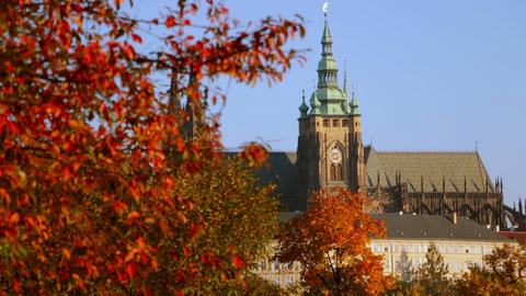 Saint Vitus Cathedral in the Autumn Footage