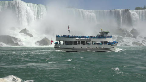 Passenger Ferry and Waterfalls Live Action