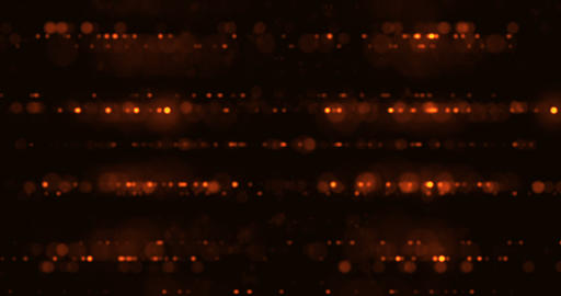 gold glow particles bokeh flowing effect on black background, holiday happy new Footage