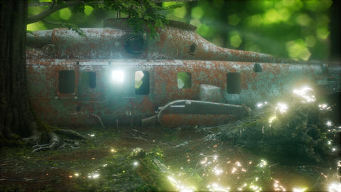 old rusted military helicopter ビデオ
