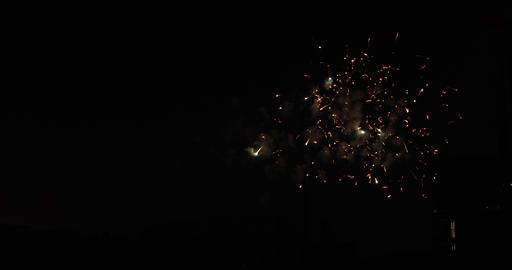 Fireworks near the building at the urban city in Tokyo at summer night long shot Live Action