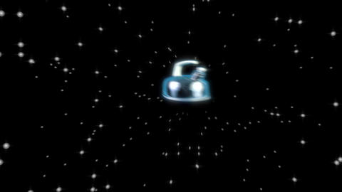 Spaceship Star Kettle in Hyperspace CG動画