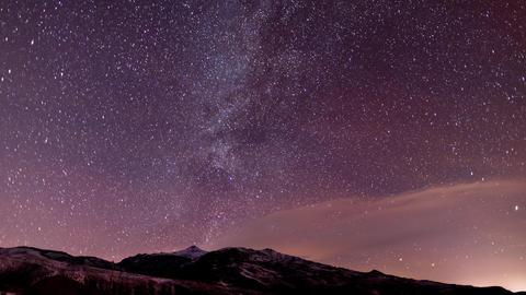 Stars Sky Night Time-Lapse Stock Video Footage
