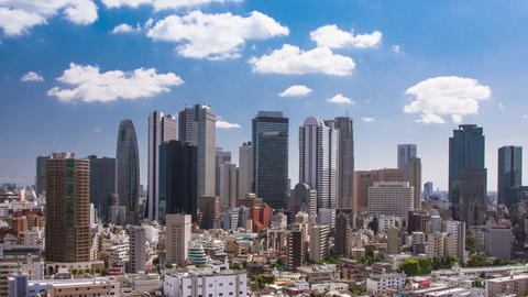 Time Lapse of the incredible skyline of Shinjuku in Tokyo Japan GIF
