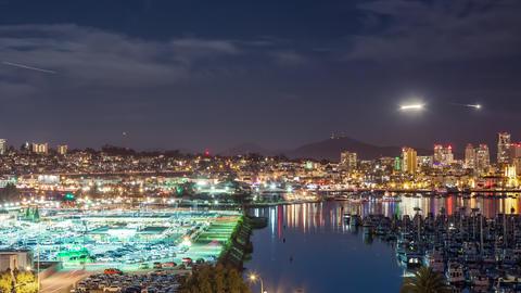 San Diego Night Time Lapse GIF