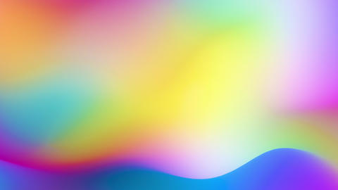 Fluid Rainbow Gradient Prism Waves CG動画