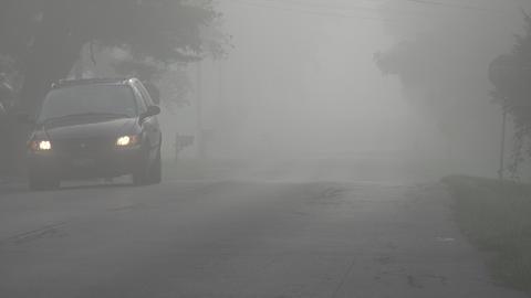 Car Driving Through Fog Footage