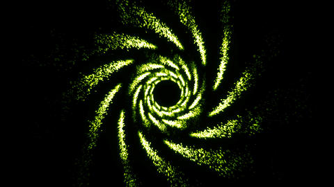 Spiral Abstract background with particles Animation