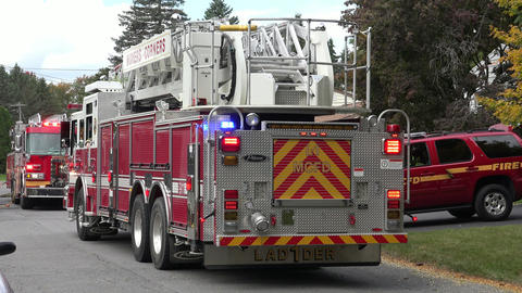 Fire Trucks and Emergency Vehicles Footage