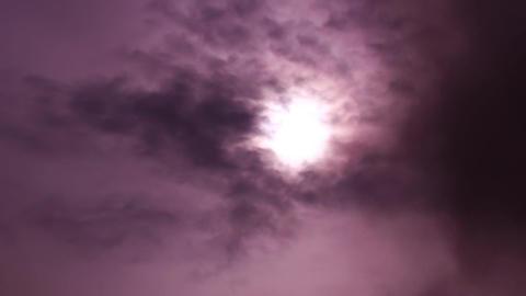 Pink Smoke On The Sun Light Footage
