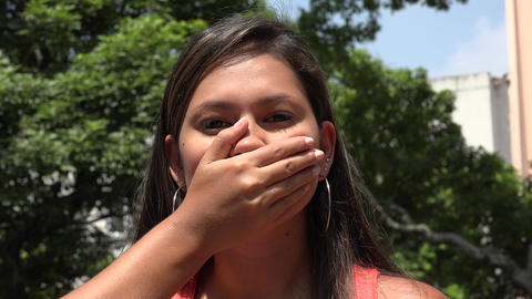 Woman Covering Her Mouth Footage