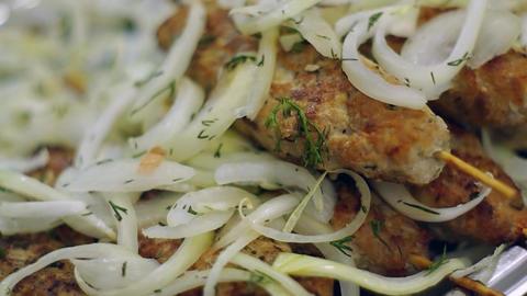 Lula Kebab meat patties Footage