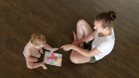 Parenting And Technology Concept Footage