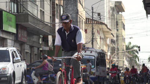 Road Traffic in Developing Nation Live Action