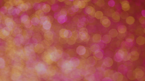 Fast Whirling Yellow and Pink Bokeh Carousel Background Animation
