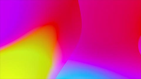 Abstract Iridescent Flowing Gradient Color Leaks CG動画