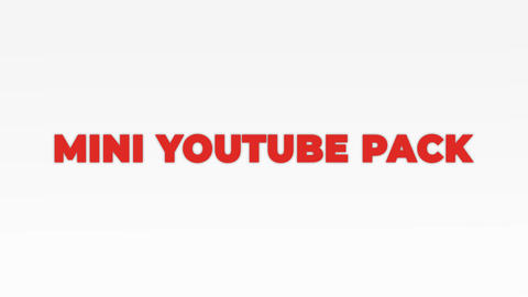 Mini Youtube Pack After Effects Template