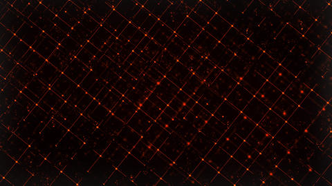 Computer generated abstract digital technology background. 3D rendering a grid Footage