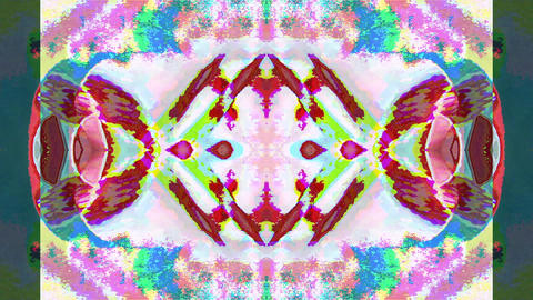 Futuristic natural light transformations. Trendy multi-colored kaleidoscope Footage