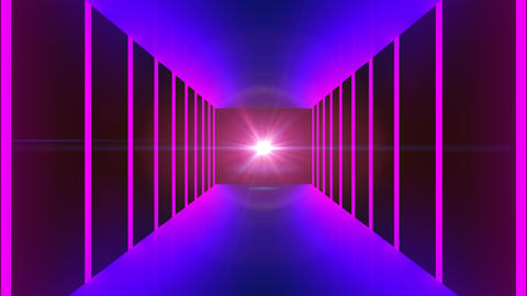 Fast motion in modern neon tunnel, trip imitation, technology 3d render computer Live Action