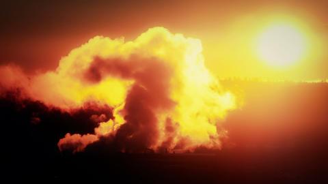 Dark depiction of Industrial Pollution Footage