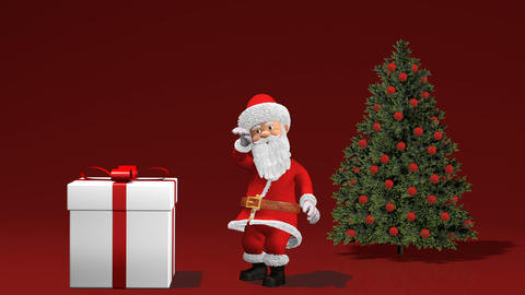 Merry Christmas and Happy New Year 2019 Animation with Santa Claus Archivo