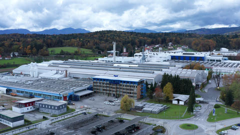 Industrial metalworking plant, aluminum factory Impol in Slovenska Bistrica Live Action