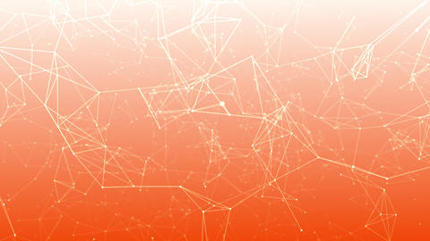 Orange Background for Media Production. Polygonal Network Shape Dynamic Gradients 4K. Technology CG動画