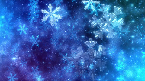 Snowfall (Snowflakes particle animtation) Animation