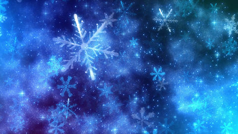 Snowfall (Snowflakes particle animtation) Stock Video Footage