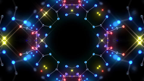 Kaleidoscope illumination neon Bh2 red blue1 4k CG動画