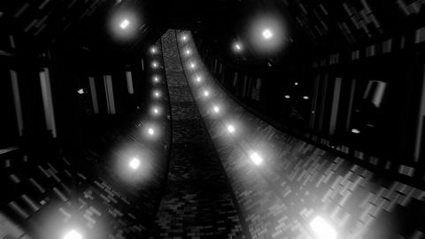 fantasy dungeon tunnel corridor with bricks texture and glass windows 3d Animation