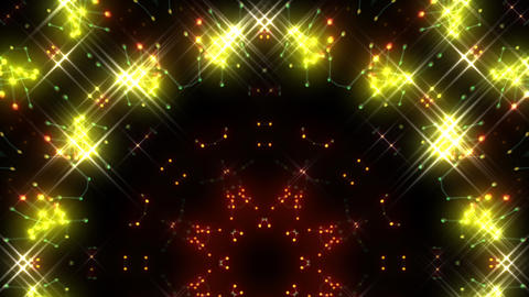 Kaleidoscope illumination neon Ch2 red yellow2 4k Animation