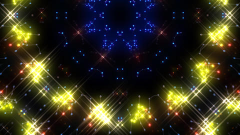 Kaleidoscope illumination neon Ch2 red blue3 4k Animation