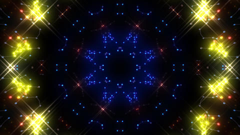 Kaleidoscope illumination neon Ch2 red blue1 4k Animation
