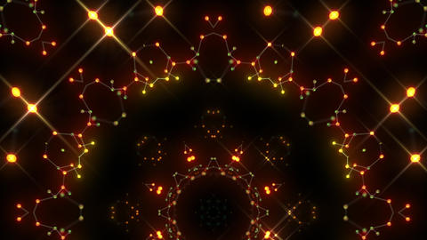 Kaleidoscope illumination neon Av2 red yellow2 4k CG動画