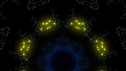 Kaleidoscope illumination neon Cv2 red blue2 4k 動画素材, ムービー映像素材