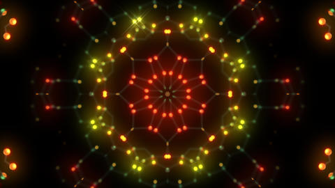 Kaleidoscope illumination neon Dh2 red yellow1 4k Animation