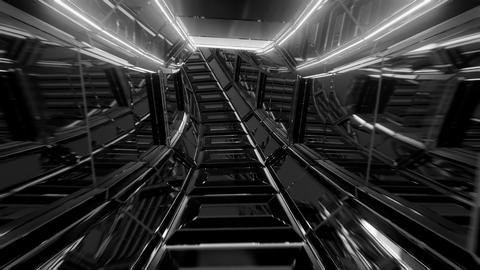 futuristic scifi glass tunnel corridor 3d illustration live wallpaper motion Animation