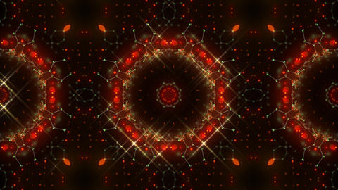 Kaleidoscope illumination neon Av2 red yellow1 4k Animation