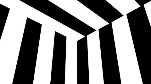 Black and white stripes. Computer generated abstract background, 3D render GIF