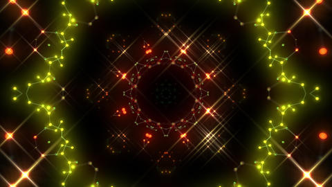 Kaleidoscope illumination neon Ah2 red yellow1 4k Animation
