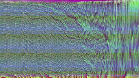 Abstract damaged tv cyberpunk fashion bad trip background Footage