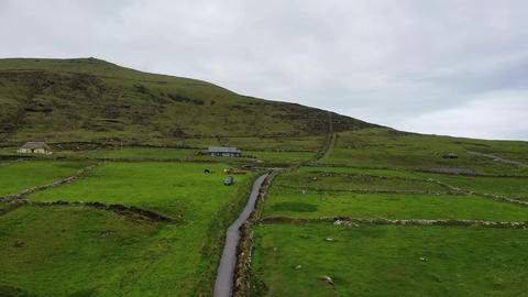 Beautiful aerial view of Valentia Island. Locations worth visiting on the Wild GIF